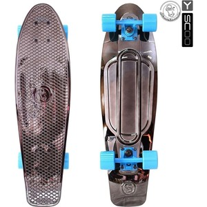 Скейтборд RT 402H-Bb Big Fishskateboard metallic 27 винил 68,6х19 с сумкой BLACK BRONZAT/blue
