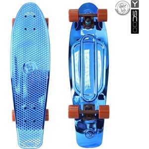 Скейтборд RT 402H-Bl Big Fishskateboard metallic 27 винил 68,6х19 с сумкой BLUE/brown