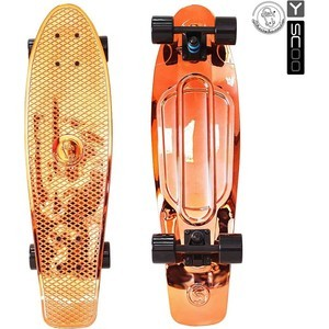 Скейтборд RT 402H-O Big Fishskateboard metallic 27 винил 68,6х19 с сумкой ORANGE/black