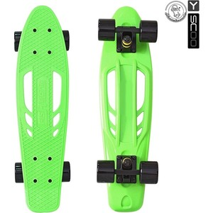 Скейтборд RT 405-G Skateboard Fishbone с ручкой 22 винил 56,6х15 сумкой GREEN/black