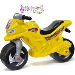 Фото - Каталка-мотоцикл беговел RT ОР501в3 Racer RZ 1 с музыкой, цвет желтый каталка мотоцикл rt racer rz 1 полиция с музыкой цвет бело синий