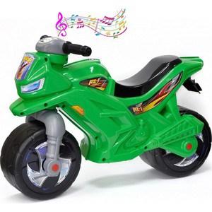 Каталка-мотоцикл беговел RT ОР501в3 Racer RZ 1 с музыкой, цвет зеленый
