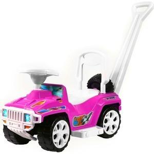 купить Каталка с родительской ручкой RT ОР856 RACE MINI Formula 1 цвет розовый дешево