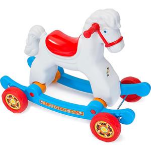 Качалка-каталка RT ОР146в2 Лошадка белая на колесах трансформер каталка качалка r toys лошадка трансформер пластик от 8 месяцев белый 5570 ор146