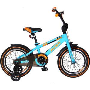 Велосипед 2-х колесный Velolider R16B 16 RUSH SPORT бирюзовый велосипед двухколёсный velolider lider shark 12 12а 1287gn зеленый черный