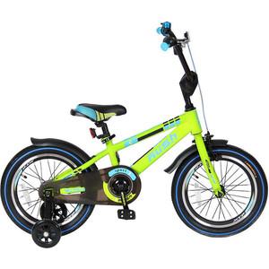 Велосипед 2-х колесный Velolider R16G 16 RUSH SPORT зеленый велосипед двухколёсный velolider lider shark 12 12а 1287gn зеленый черный