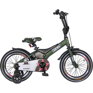 Велосипед 2-х колесный Velolider RA16 16 RUSH ARMY хаки велосипед двухколёсный velolider lider shark 12 12а 1287gn зеленый черный