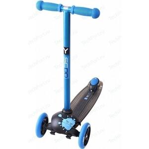 Самокат 3-х колесный Y-Scoo RT TRIO DIAMOND 120 Monsters 1 высота с блокировкой колес blue Ziggi самокат 3 х колесный y scoo rt trio diamond 120 monsters 1 высота с блокировкой колес blue ziggi