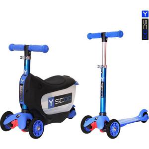 Самокат 3-х колесный Y-Scoo 3 в 1 Mini Jump&Go dark blue самокат 3 х колесный y scoo 3 в 1 mini jump