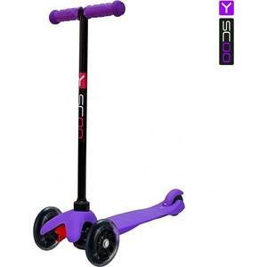 Самокат 3-х колесный Y-Scoo mini A-5 Shine цв. purple со светящими колесами
