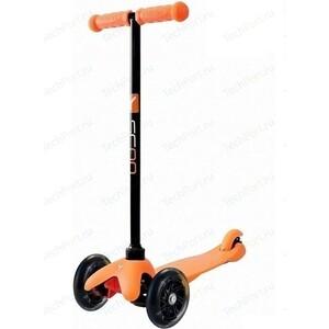 цена на Самокат 3-х колесный Y-Scoo mini A-5 Shine цв. orange со светящими колесами