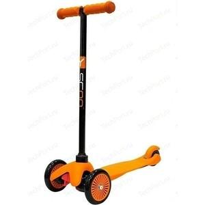 Самокат 3-х колесный Y-Scoo mini A-5 Simple цв. orange с цветными колесами