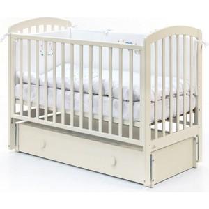 Кроватка Fiorellino Tina маятник продольный 120х60 ivory