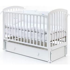 Кроватка Fiorellino Tina маятник продольный 120х60 white