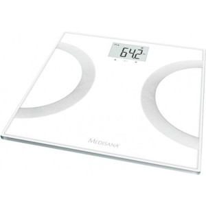 Весы напольные Medisana BS 445 Connect белый/серебристый