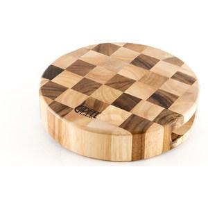 Разделочная доска двухцветная-шахматка 23x5 см Gipfel (3438)