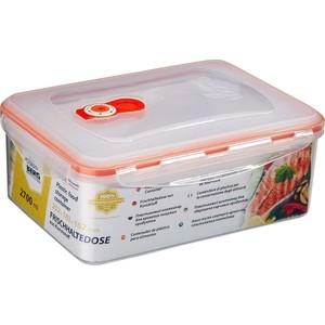 Контейнер вакуумный для продуктов 2.7 л Stahlberg Оранжевый (4256-S)