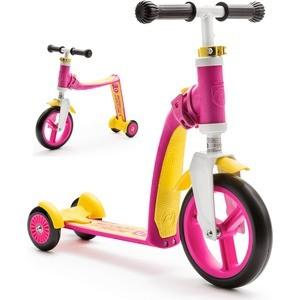 Самокат-беговел Scoot and Ride трансформер Highway Baby Plus Желто-розовый (950888/цв 1152736)