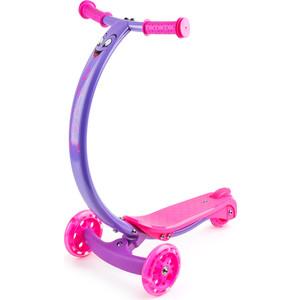 цена на Самокат 3-х колесный Zycom с изогнутой ручкой и светящимися колесами Zipster фиолетово-розовый (1149140/цв 1149146)