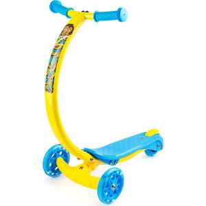 цена на Самокат 3-х колесный Zycom с изогнутой ручкой и светящимися колесами Zipster обезьянка (1149140/цв 1149147)