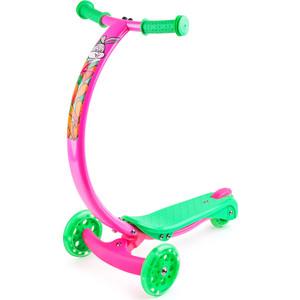 цена на Самокат 3-х колесный Zycom с изогнутой ручкой и светящимися колесами Zipster зайчик (1149140/цв 1149169)