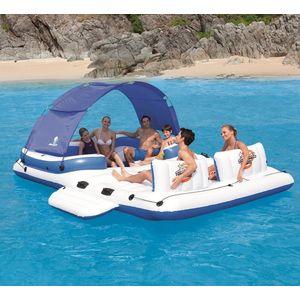 Беседка плавающая Bestway 43105 для отдыха на воде (389х274 см на 6 человек)