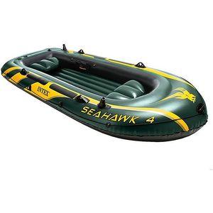 Надувная лодка Intex 68350 Seahawk 4 (до 400кг) 351х145х48см лодка надувная лидер 430 зеленая