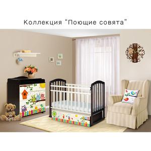цена на Кроватка трансформер Антел с маятником Поющие Совята Ульяна 1 слоновая кость/ венге