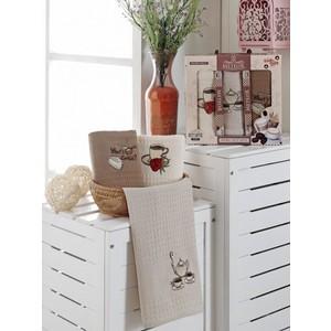 Набор кухонных полотенец Meteor Bionce Kahve вафельное 40x60 3 штуки (9218)