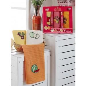 Набор кухонных полотенец Meteor Bionce Meyveli вафельное 40x60 3 штуки (9220)