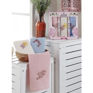 Набор кухонных полотенец Meteor Bionce Sakura вафельное 40x60 3 штуки (9216)