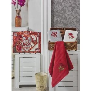 Набор кухонных полотенец Meteor Сердце вафельное 40x60 3 штуки (8250)