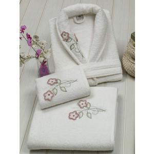 Набор женский халат 3 предмета 3D Merzuka Karmen (8754 кремовый)