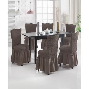 Набор чехлов для стульев 6 предметов Juanna (8029 капучино)