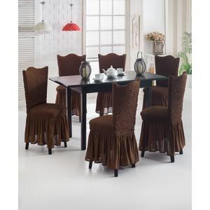 Набор чехлов для стульев 6 предметов Juanna (8029 шоколадный)