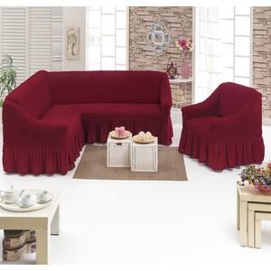 Набор чехлов для мягкой мебели 2 предмета Juanna (8211 бордовый)