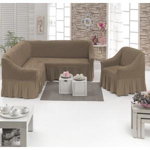 Набор чехлов для мягкой мебели 2 предмета Juanna (8211 капучино)