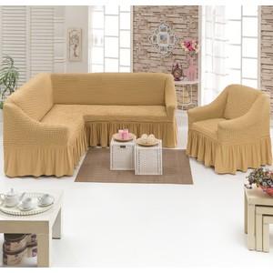 купить Набор чехлов для мягкой мебели 2 предмета Juanna (8211 медовый) по цене 4094.5 рублей