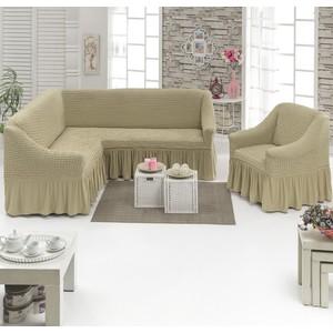 купить Набор чехлов для мягкой мебели 2 предмета Juanna (8211 молочный) по цене 4094.5 рублей
