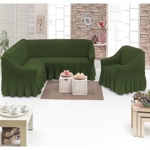 Набор чехлов для мягкой мебели 2 предмета Juanna (8211 оливковый)