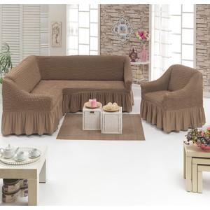 купить Набор чехлов для мягкой мебели 2 предмета Juanna (8211 серо-коричневый) по цене 4094.5 рублей