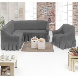 Набор чехлов для мягкой мебели 2 предмета Juanna (8211 серый)