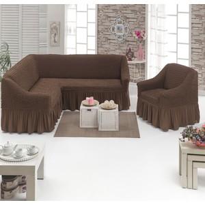 Набор чехлов для мягкой мебели 2 предмета Juanna (8211 шоколадный)