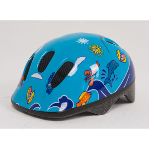 Шлем Moove&Fun BELLELLI сине-голубой с дельфинами размер: M, 80028-M