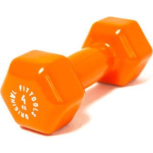 Гантель Original Fit.Tools в виниловой оболочке 4 кг (Цвет - оранжевый) FT-VWB-4