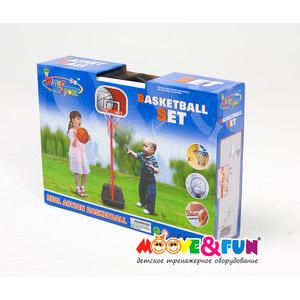 Баскетбольная стойка складная Moove&Fun 116 см в чемодане арт. 20881G 20881G батут 36 moove