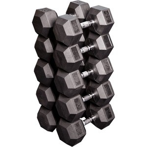Набор Body Solid гексагональных гантелей: 5 пар от 24,75 кг до 33,75 кг с шагом 2,25 кг SDRS650 двойная карточка разъемны тренажеры гантелей напыление композиции мужчина подарочная коробка кг 15 кг