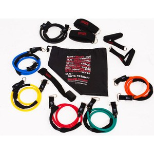 Набор эспандеров Original FitTools трубчатых (6 шт.) и аксессуаров в сумке FT-TRTE-MULTISET