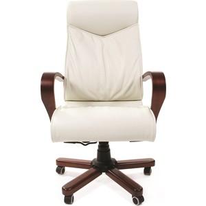 Офисное кресло Chairman 420 WD кожа белая