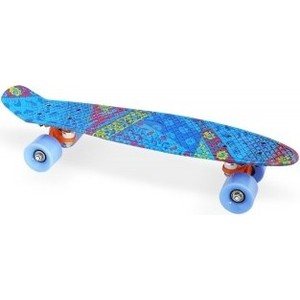 Скейт Moove&Fun пластиковый 22х6-18, синий, PP2206-18 blue скейт пластиковый moove fun 22х6 1 pp2206 1 green